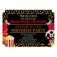 Under the Stars Outdoor Movie Party Invitation