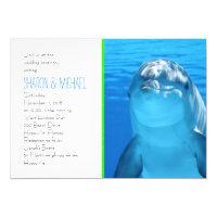 Underwater Dolphin Love Wedding Card