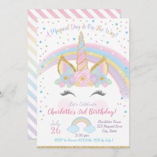 unicorn birthday invitations zazzle