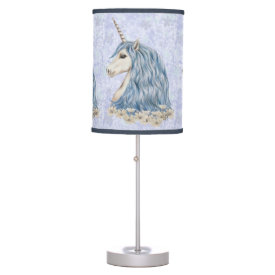 Unicorn Blue Hair Desk Lamp