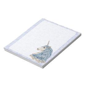 Unicorn Blue Hair Scratch Pads