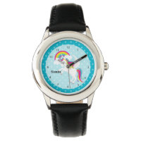 Unicorn * Choose your background color Wrist Watch