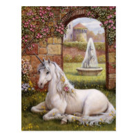 Unicorn Garden Postcard