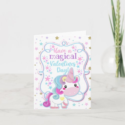 Unicorn Have a Magical Valentines Day Kids Card