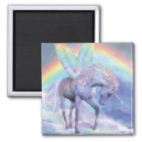 Unicorn Of The Rainbow Art Magnet