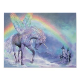 Unicorn Of The Rainbow Art Poster/Print