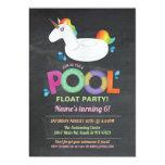 Unicorn Pool Party Birthday Beach Float Invites