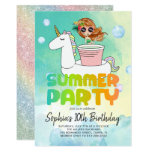 Unicorn Pool Party Invitation