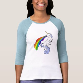 Unicorn Puking Rainbow T Shirt