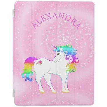 Unicorn Rainbow Pink Cute Customized iPad Smart Cover