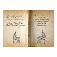 Unicorn Story Book Wedding Invitation