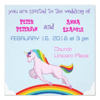Unicorn Wedding Invitation
