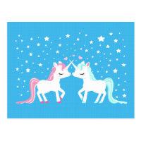 Unicorns in love Postcard
