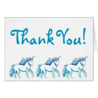 Unicorns Thank You Card