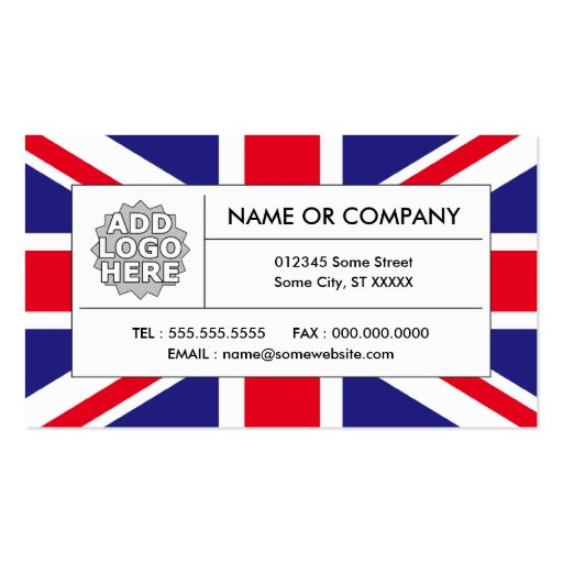 united kingdom flag business card | Zazzle