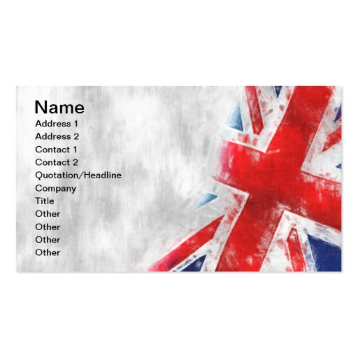United Kingdom Flag Business Cards | Zazzle