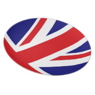 UNITED KINGDOM Union Jack British Flag PARTY PLATE