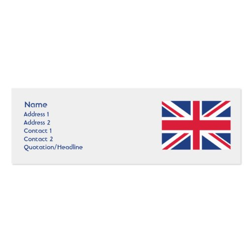 United Kingdom - Skinny Business Cards | Zazzle
