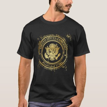 United States Eagle - 1776 Gold Seal T-Shirt