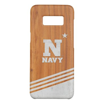 United States Naval Academy Wood Cement Logo Case-Mate Samsung Galaxy S8 Case