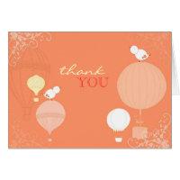 Up in the Air Newlyweds Wedding Thank You Cards