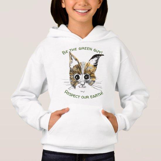 Upbeat Kitty  Nature Sweatshirt for Girls