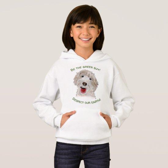 Upbeat Labradoodle   Nature Sweatshirt for Girls