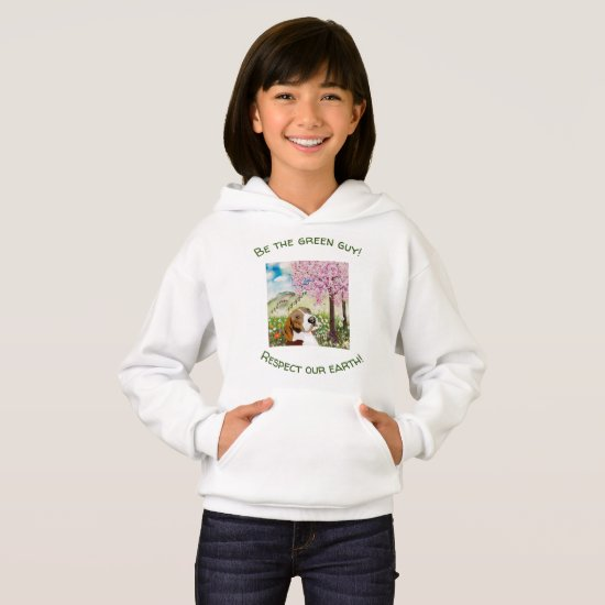 Upbeat Spring  Nature Sweatshirt for Girls