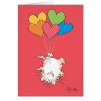 upside down cat valentines by boynton card
