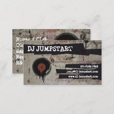 Urban Graffiti Turntable DJ Business Card