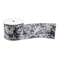 Urban Style Digital Camouflage Satin Ribbon