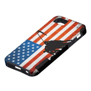 US Flag with Veterans Silhouettes iPhone SE/5/5s Case