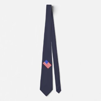 USA America CricketDiane American Flag 4th July Tie