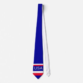 USA American Flag Mens Tie 10 CricketDiane Designs