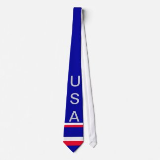 USA American Flag Mens Tie 9a CricketDiane Designs