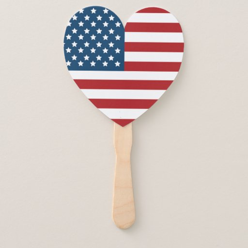 USA American Flag Stars and Stripes Hand Fan