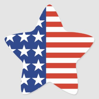 USA Stars and Stripes Star Flag Sticker