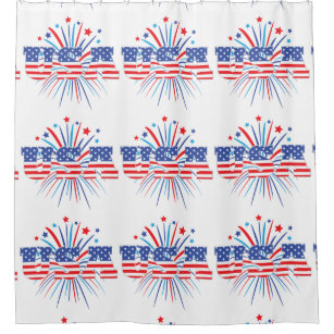 4th of july shower curtains zazzle