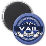 Vail City Logo Blue Magnet