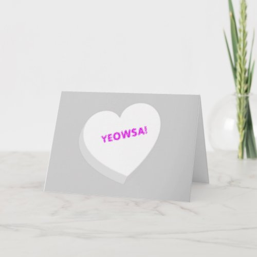 Valentine Candy Heart - White Holiday Card