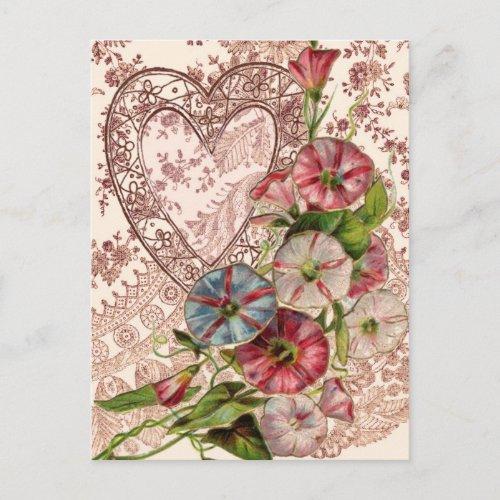 Valentine Flowers Holiday Postcard