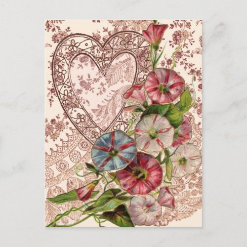 Valentine Flowers Holiday Postcard