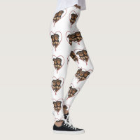 Valentine Yorkshire terriers fashion art leggings