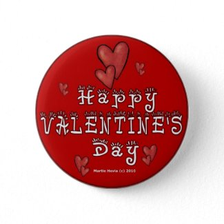 Valentine's Day Buttons/Pins (1) button