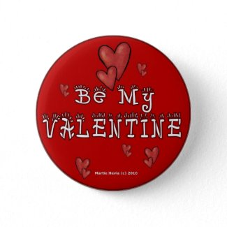 Valentine's Day Buttons/Pins (2) button