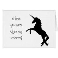Valentine's Day Greeting Card | Unicorn Love