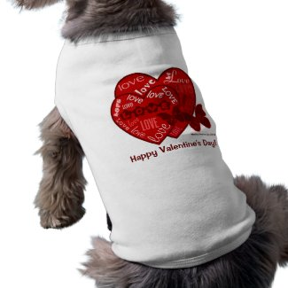Valentine's Day Hearts & Love Pet Shirt (2) petshirt