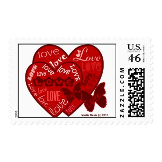 Valentine's Day Hearts & Love Postage (2) stamp