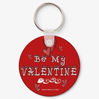 Valentine's Day Keychain (2a) - Personalize keychain