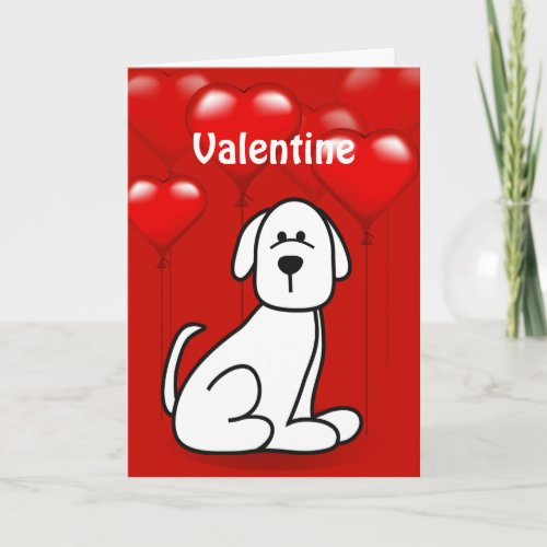 Valentine's Day Puppy Dog Wuf You Greeting Card